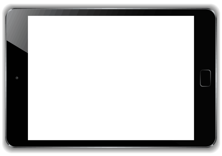 black ipad frame