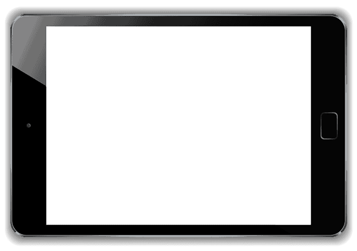 black ipad frame